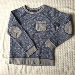 Boys Tucker and Tate Sweater Elbow Patches EUC